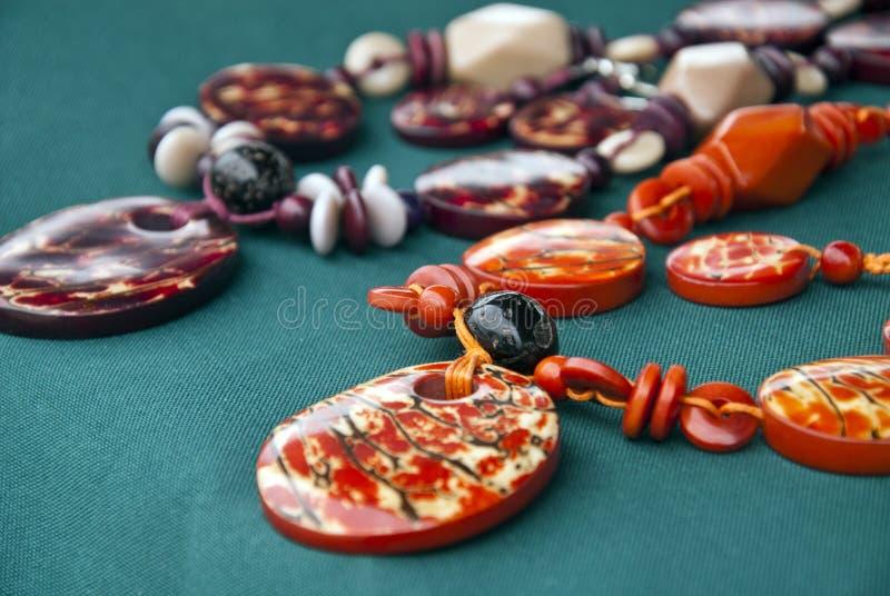 Bijoux - colliers d'écrou de Tagua photo libre de droits