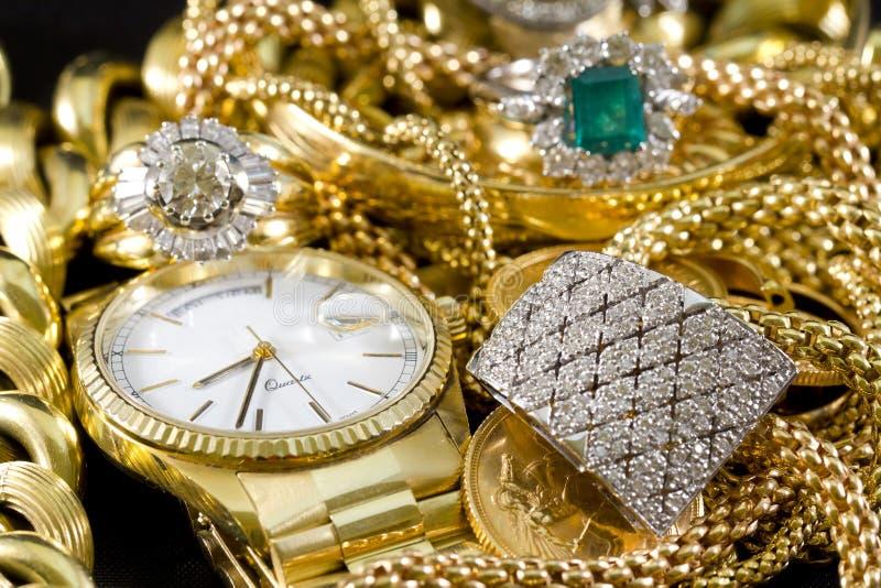 Bijoux d'or photographie stock