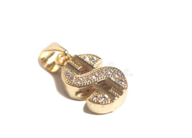 Bijoux de symbole dollar d'or photo libre de droits