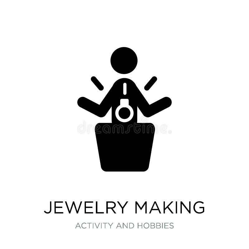 bijoux faisant l'icône dans le style à la mode de conception bijoux faisant l'icône d'isolement sur le fond blanc bijoux rendant  illustration libre de droits