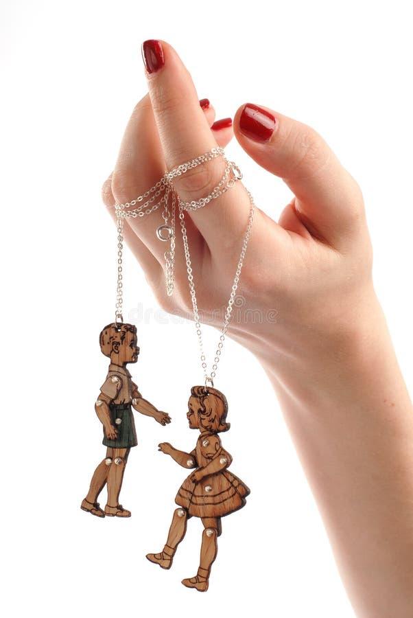 Bijoux femelles de marionnette de main photos libres de droits
