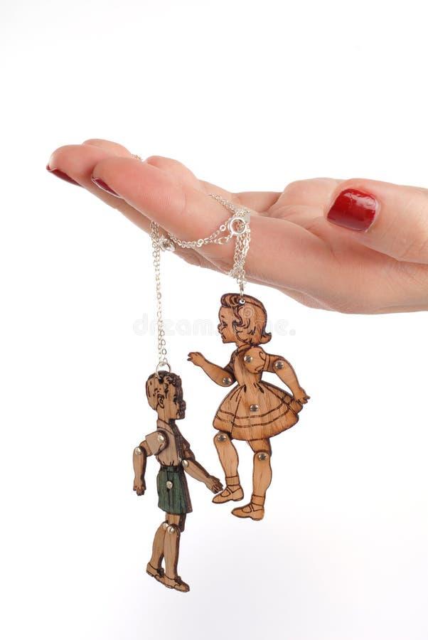 Bijoux femelles de marionnette de main photos stock