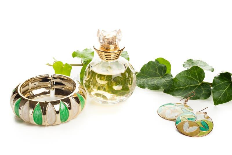 Bijoux verts photo libre de droits