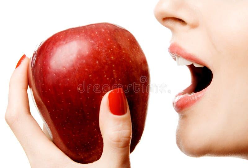 Bijtende appel stock foto