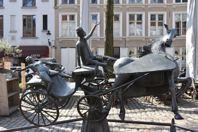 Bijzonderheid in de mooie stad van Brugge royalty-vrije stock foto's