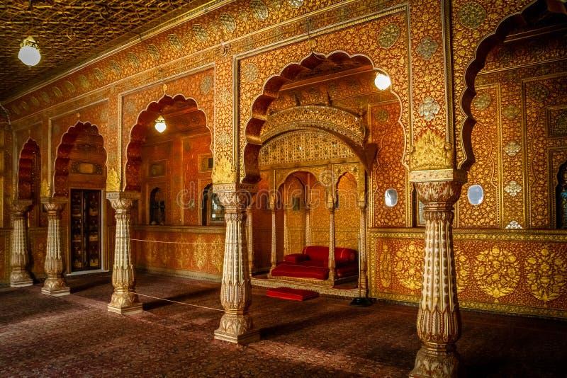 Bikaner świątyni wnętrze fotografia stock