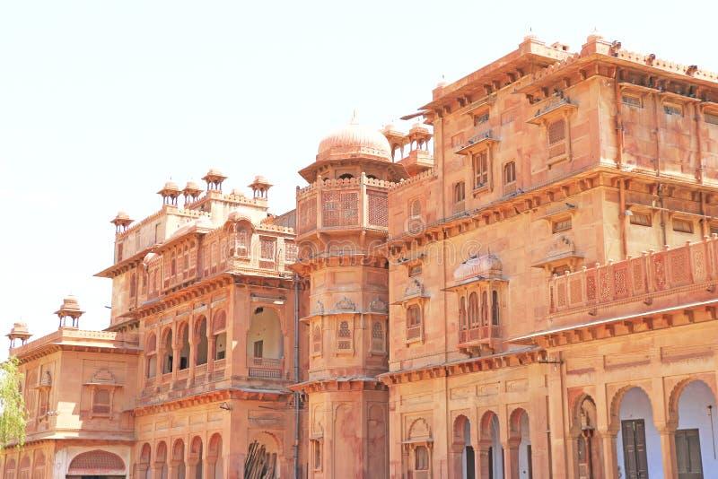 Bikaner rojo Rajasthán la India del fuerte de Junagarh imagen de archivo libre de regalías