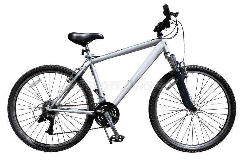 Bike. Mountain bicycle bike isolated on white background stock photography