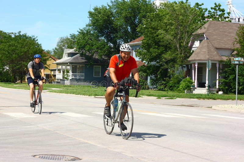 Download Bike Across Kansas Participants Entering Town Editorial Image - Image: 14633885