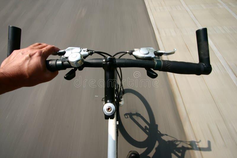 Bike action royalty free stock image