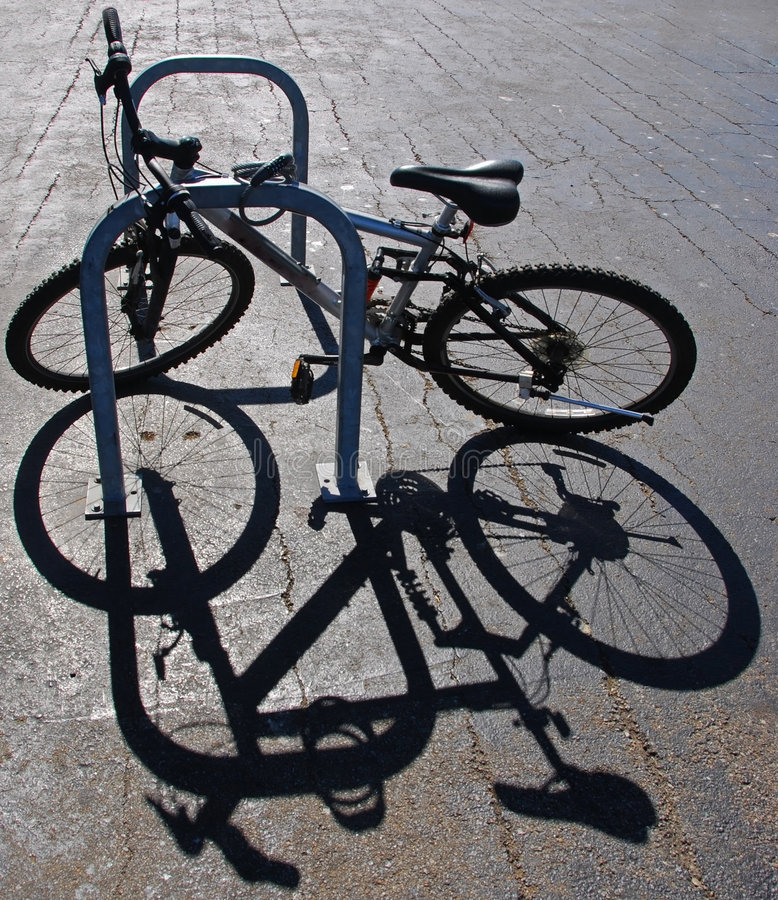 Free Bike And Shadow Stock Photography - 3323362
