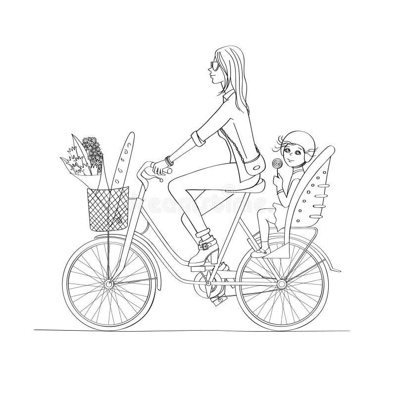 Bike_baby i kobiety zdjęcie royalty free