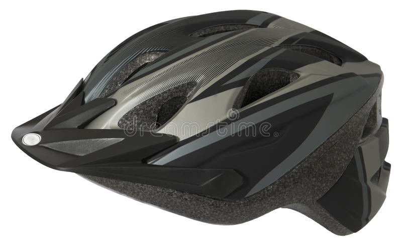Bike or Bicycle Helmet, Safety Equiment, Isolated. Isolated bike or bicycle helmet. The safety equipment is used to protect the head from an accident or fall stock photography