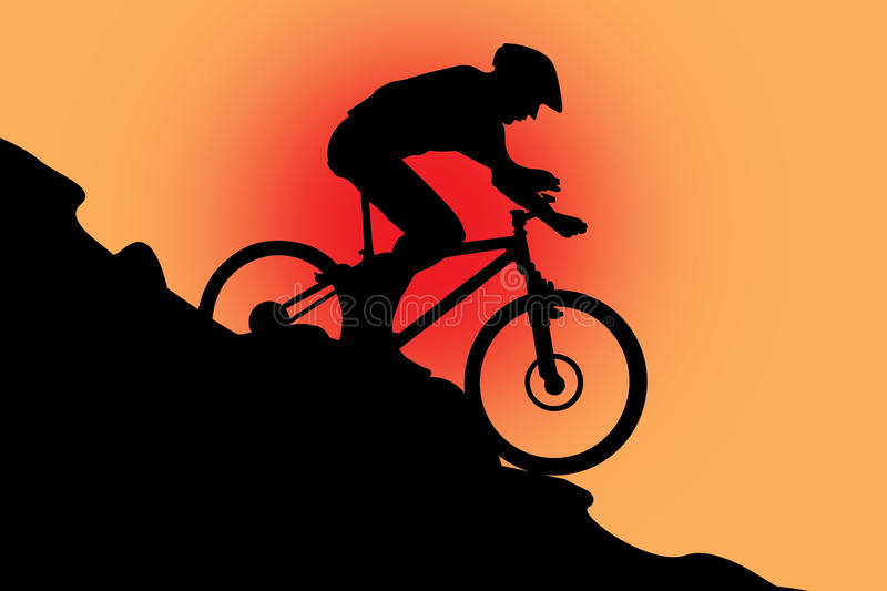 Download Bike Bicycle With A Sportsman On Red Stock Illustration - Illustration of design, bicycle: 15768581