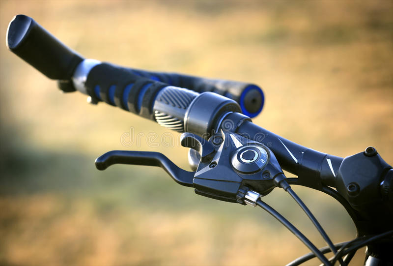 Bike brake grip. Soft photo royalty free stock photos