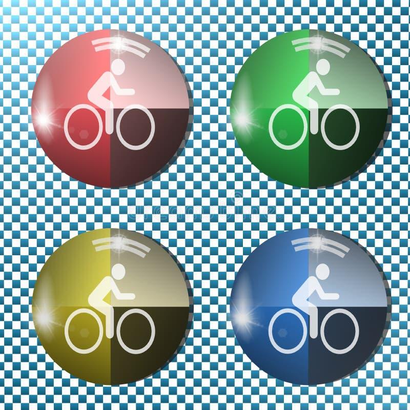Download Bike Button,icon, Sign, 3D Illustration Stock Illustration - Image: 83723698