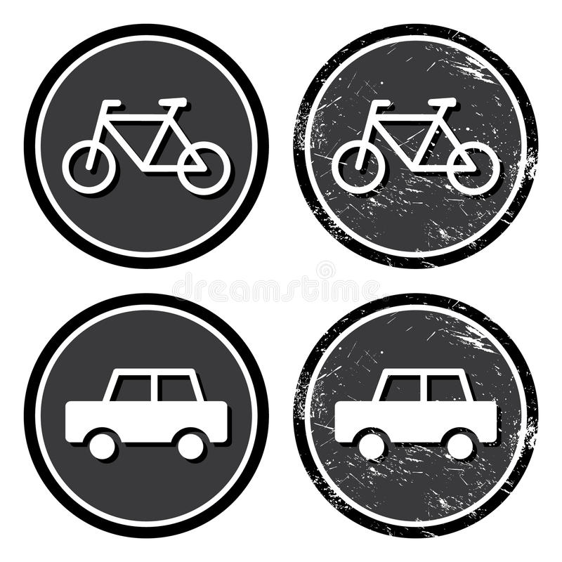 Download Bike And Car Retro Label Stock Images - Image: 25388494
