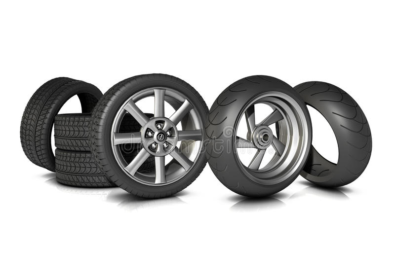 Download Bike and Car Tyres stock illustration. Image of bike - 17164063