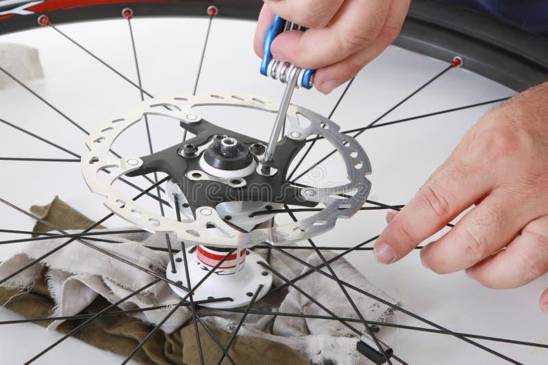 Bike care stock photography