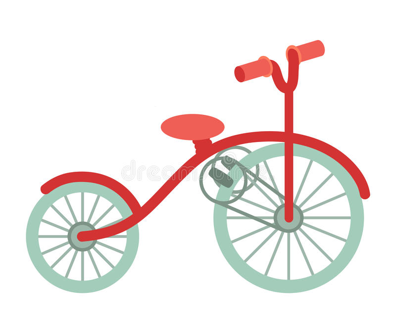 Bike cartoon illustration, healthy activity. Transport for travel royalty free illustration