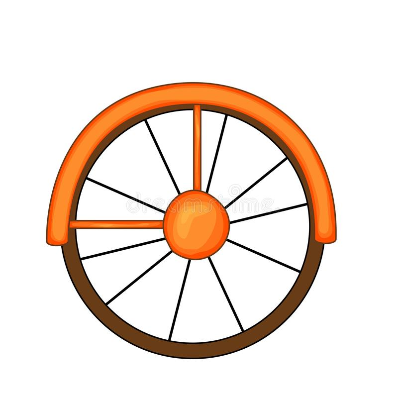 Bike cartoon style isolated on white background vector illustration