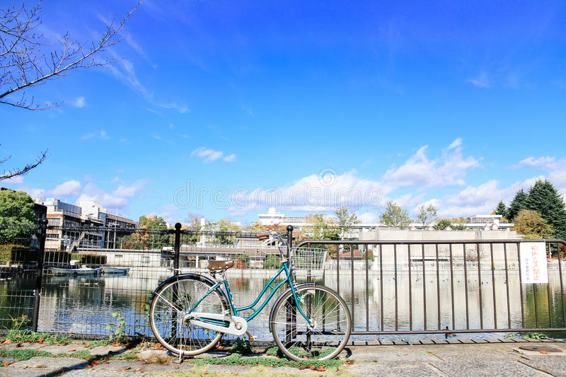 Bike and clear sky royalty free stock images