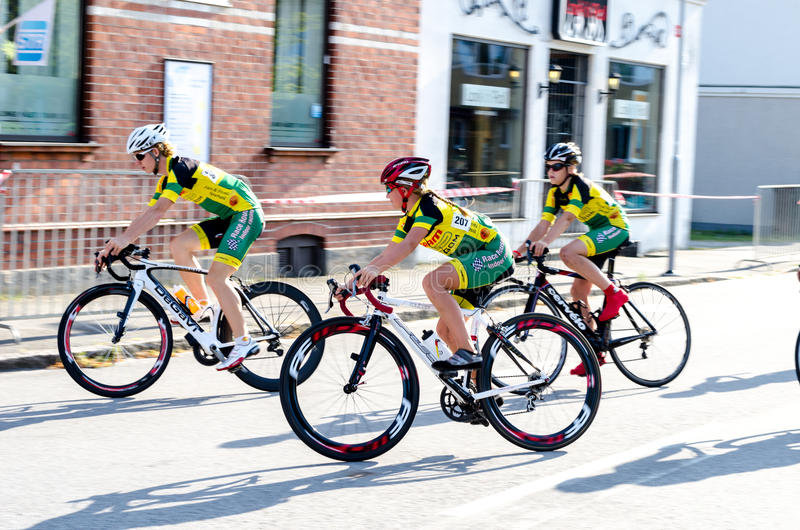 Bike competition. In Vellinge Sweden 2014. 1-3 august royalty free stock photos