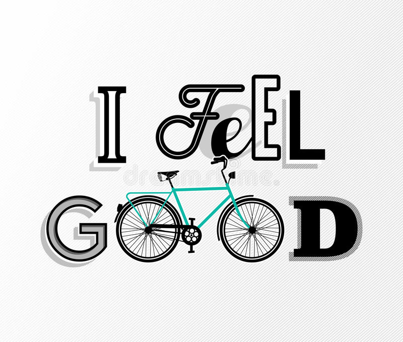 Bike concept bicycle motivation retro text poster royalty free illustration