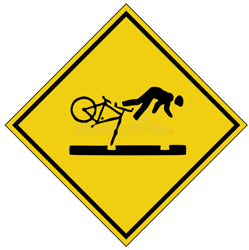 Bike Crash Sign (AI Format Available) Stock Photos