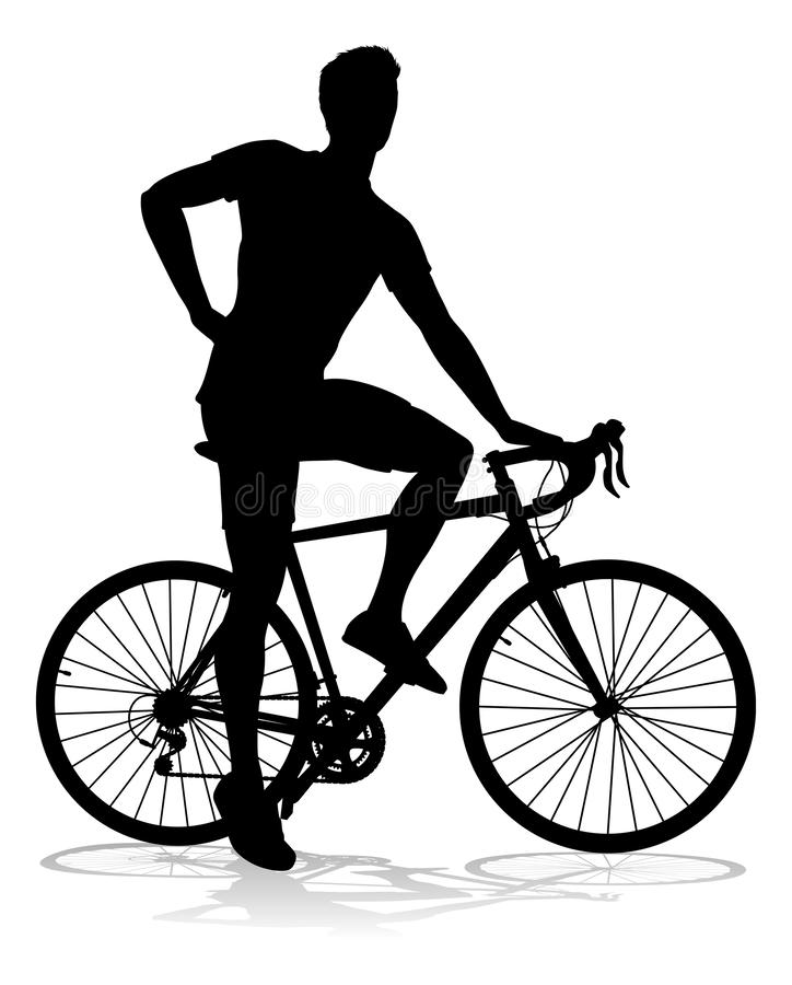 Free Bike Cyclist Riding Bicycle Silhouette Royalty Free Stock Image - 137305386