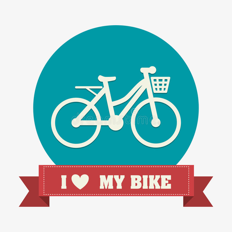 Bike design. stock illustration