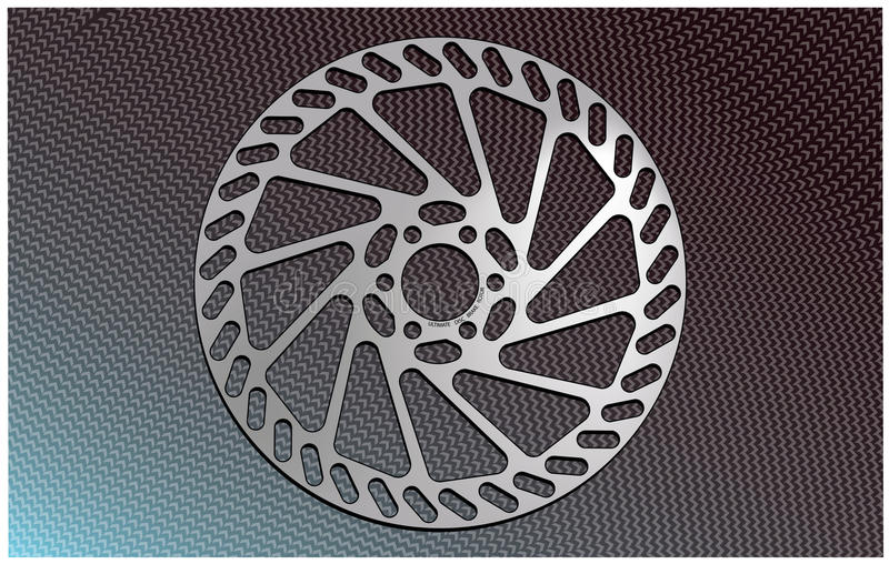 Bike disc brake rotor. Illustration of the disc brake rotor, used to be on mountain bikes royalty free illustration