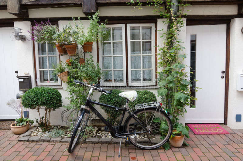 The Bike At The Door Stock Photography