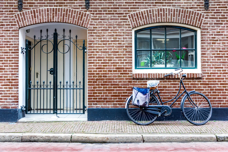 Bike at the front door royalty free stock photo