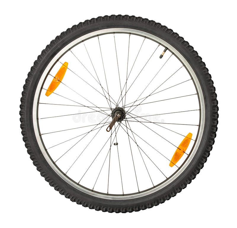 Bike front wheel royalty free stock photography