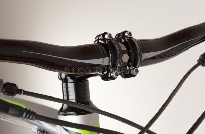 Bike handlebars, close up view, studio photo stock image