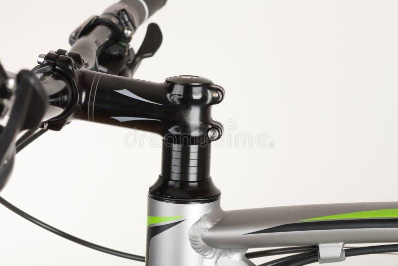 Bike handlebars, close up view, studio photo royalty free stock images