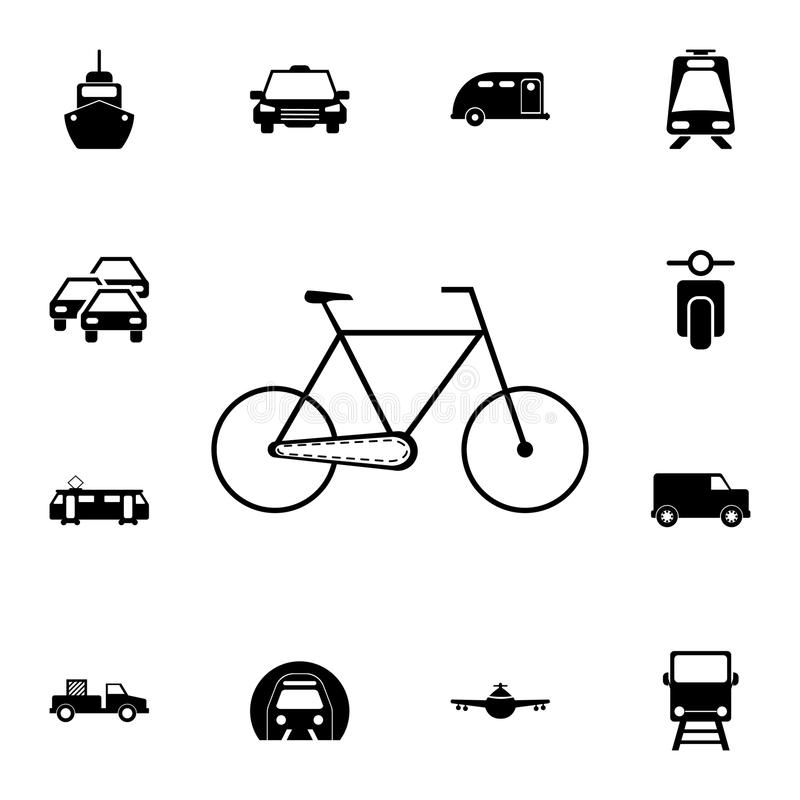A bike icon. Detailed set of Transport icons. Premium quality graphic design sign. One of the collection icons for websites, web. Design, mobile app on white vector illustration