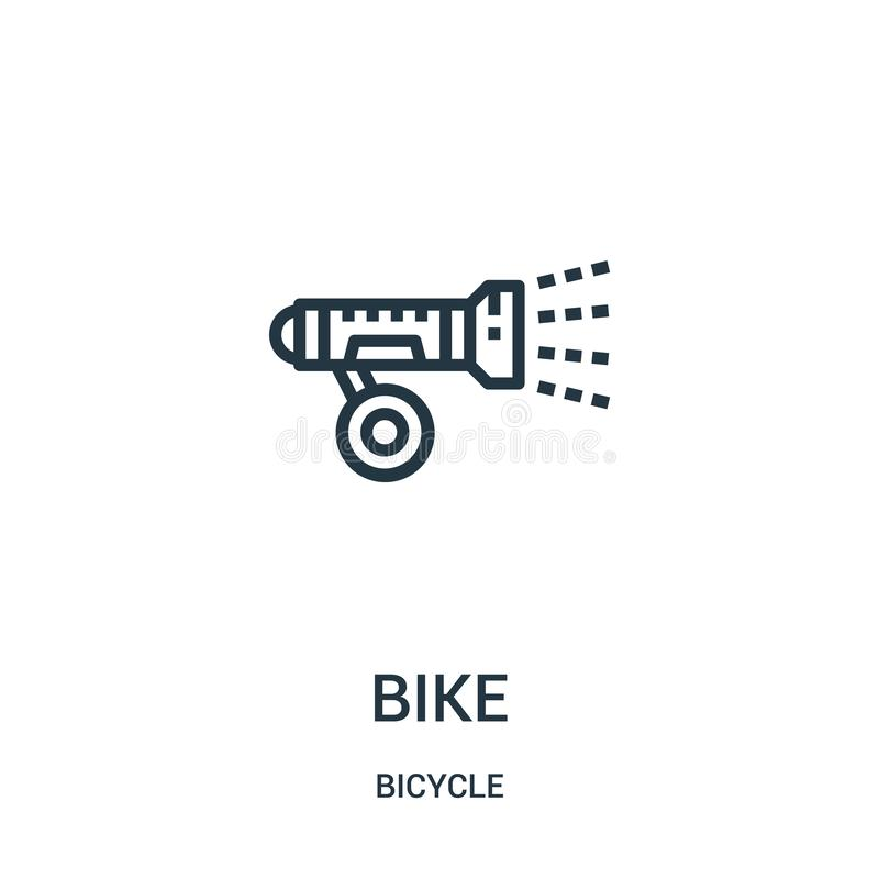 bike icon vector from bicycle collection. Thin line bike outline icon vector illustration. Linear symbol for use on web and mobile vector illustration