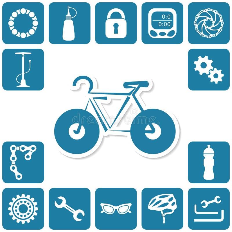 Bike icons vector illustration