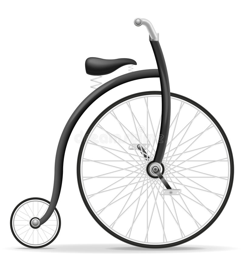 Bike a ilustração retro velha do vetor do estoque do ícone do vintage ilustração royalty free