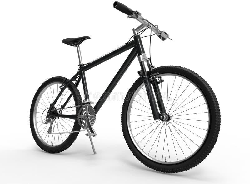 bike la prospettiva biking della montagna delle mani della foresta del fuoco del campo di profondità del ciclista poco profonda illustrazione vettoriale