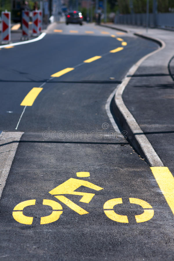 Download Bike lane stock photo. Image of signs, auto, roadsign - 19345286