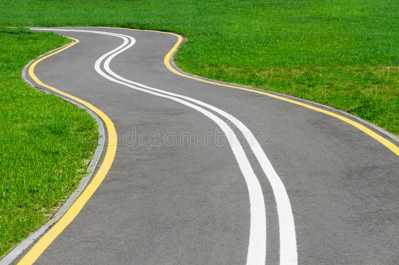Download Bike lane stock photo. Image of season, asphalt, curb - 25160392