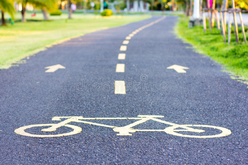 Bike lane royalty free stock images