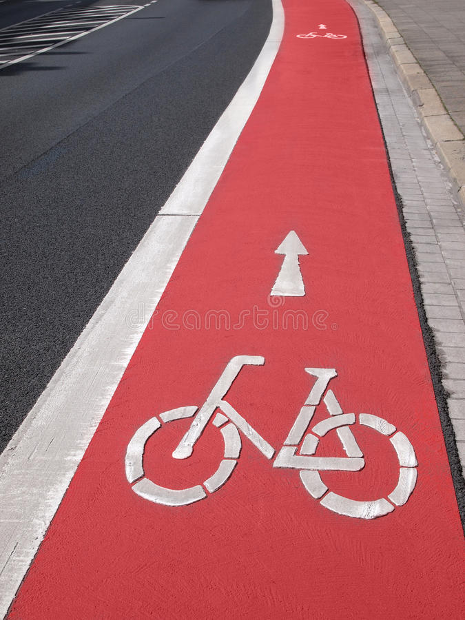 Download Bike lane stock image. Image of markings, lane, bicycle - 28186801