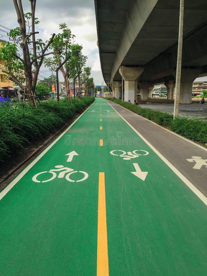 Bike lane stock image