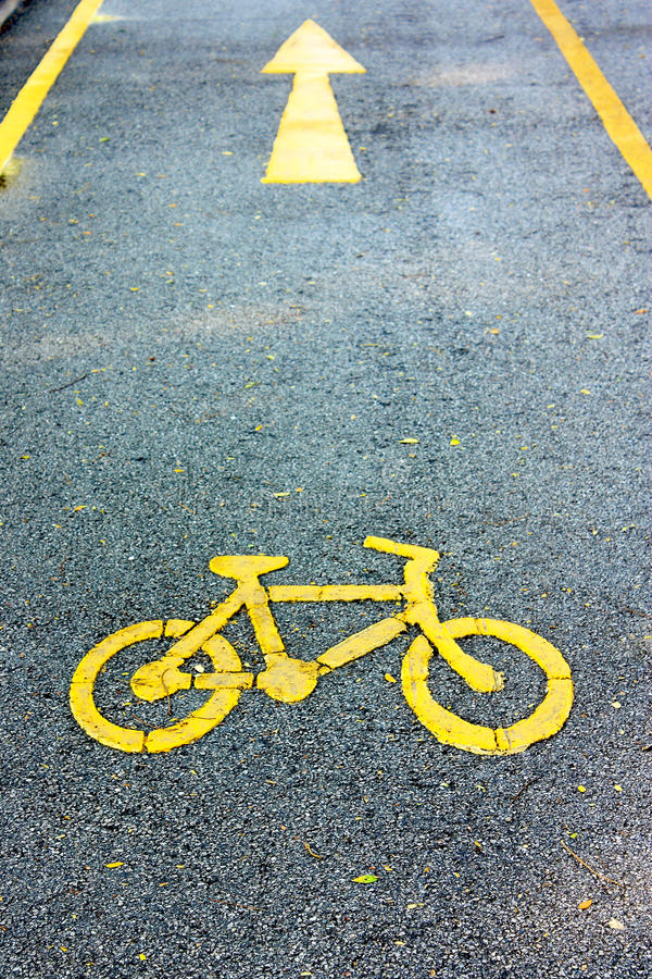 Bike lane royalty free stock photography