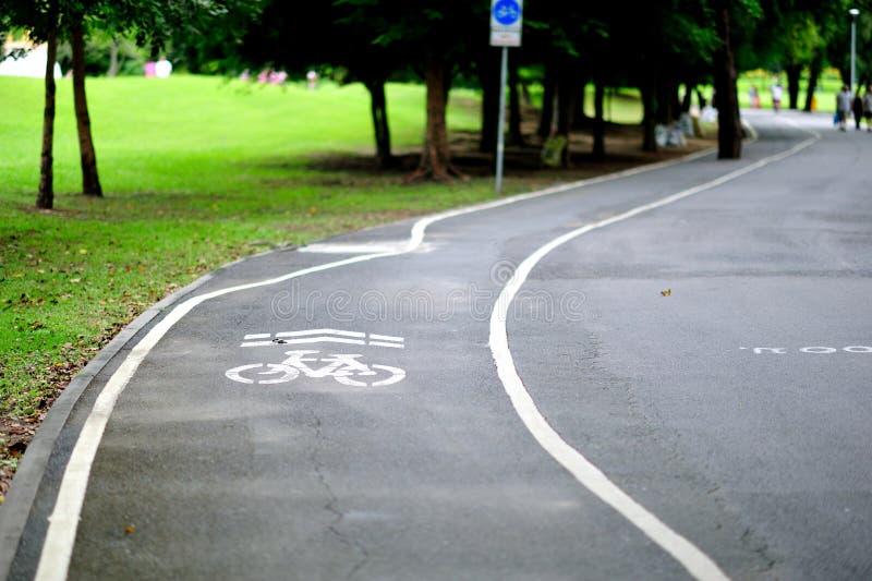 Bike Lane in the park stock image