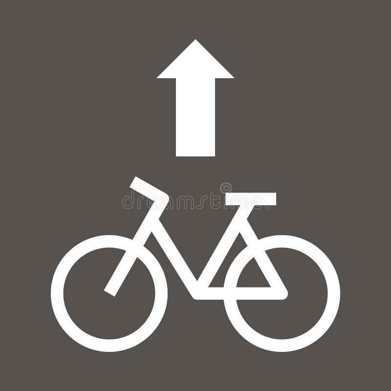 Free Bike Lane Sign Royalty Free Stock Photo - 133487695